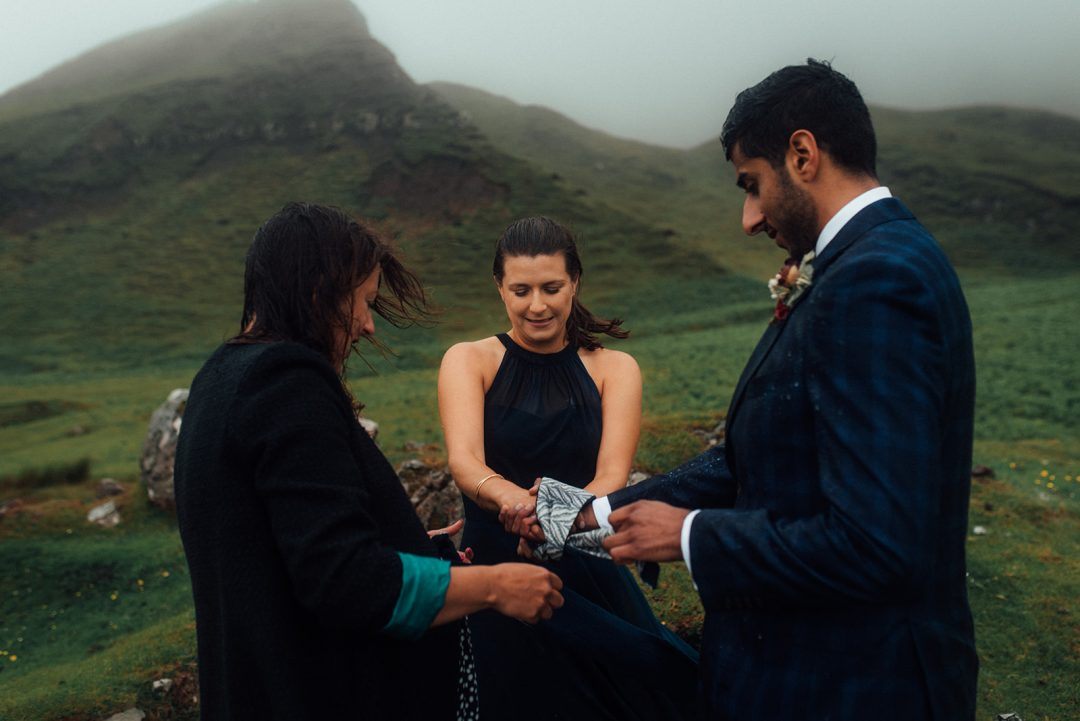 Handfasting ceremony on the Quiraing