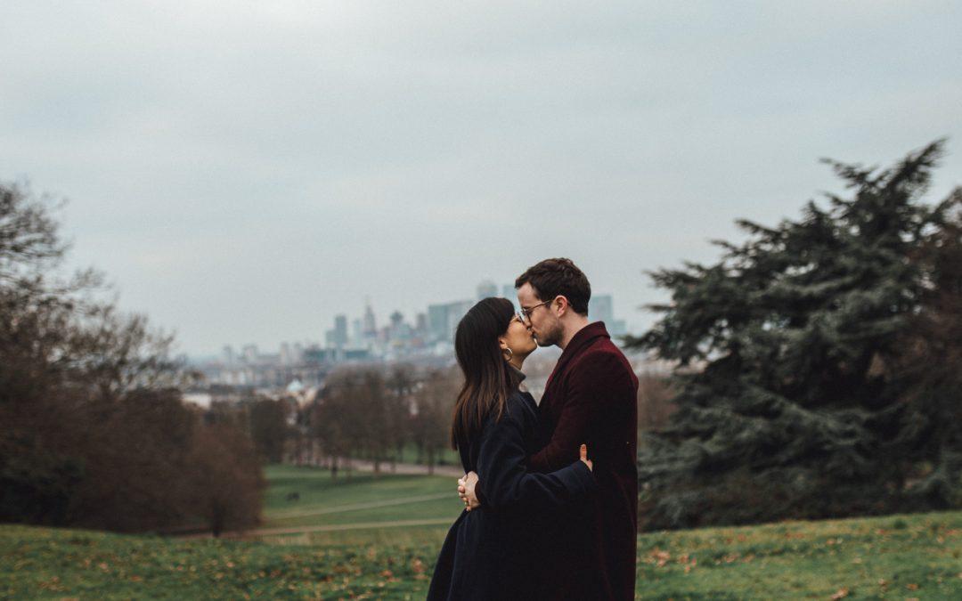 Greenwich Engagement Shoot | Naomi & Ciaran